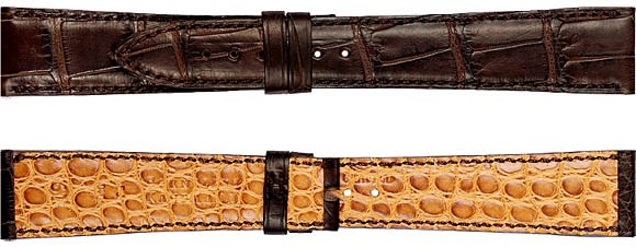 Bild von Alligator Double hand-stitched bombé